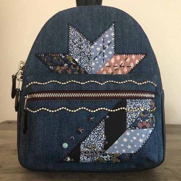 Coach Handbags - Coach Denim Mini Charlie Backpack NWT